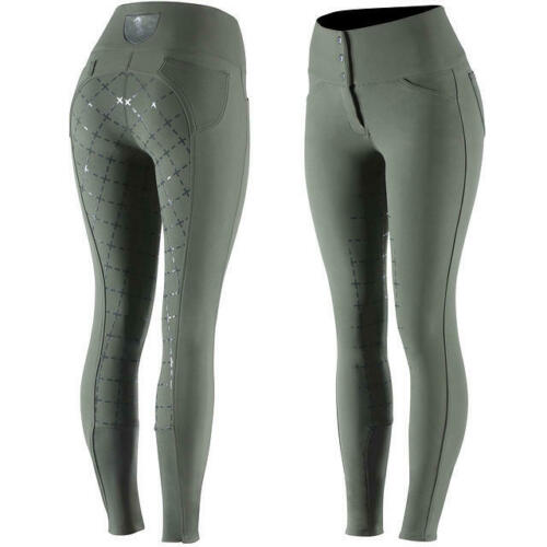 Horze Desiree Full Seat Breeches in Lichen