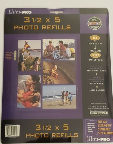 New Rembrandt ULTRA-PRO 3 1//2 x 5 Photo Refill Pages Acid Free Pack of 10