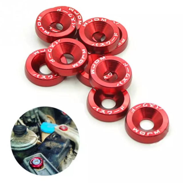 10PCS M6x20 Car Styling Universal, Fender,Washer, License Plate, Bolts