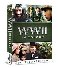 WWII IN COLOUR 4 DVD BOOK MAGAZINE SET WORLD WAR 2 ALL 13 EPISODES ROBERT POWELL
