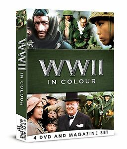 WWII-IN-COLOUR-4-DVD-BOOK-MAGAZINE-SET-WORLD-WAR-2-ALL-13-EPISODES-ROBERT-POWELL
