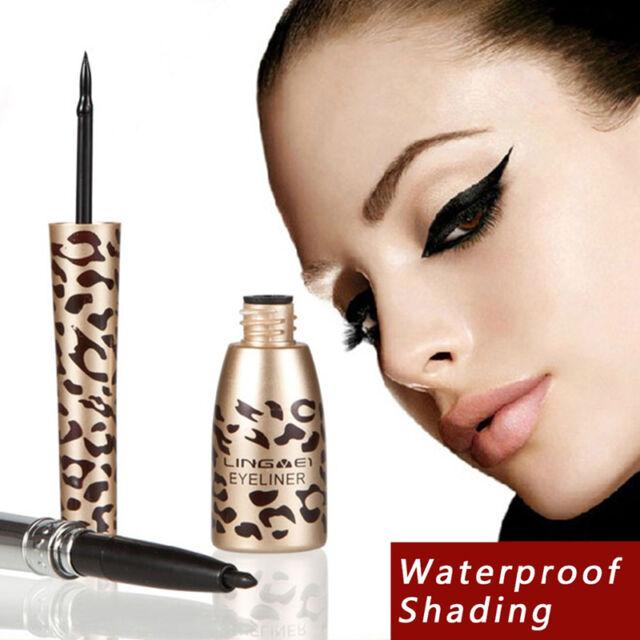 Women Girls Leopard Waterproof Liquid Eye Liner Eyeliner Pen Makeup Cosmetic