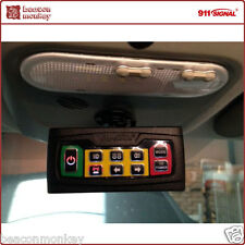 911 Signal 6 Way Hazard Lightbar Beacon and Siren Switcher Controller Panel Unit