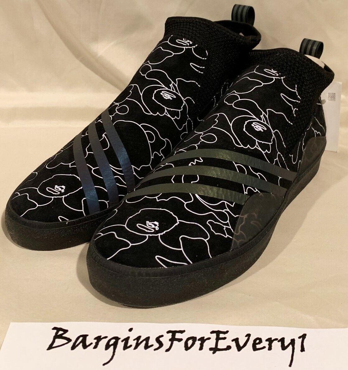 New Men's Adidas Adidas Adidas 3ST.002 Bape A - Size 9.5 - Black Xeno - DB3003 a3559f
