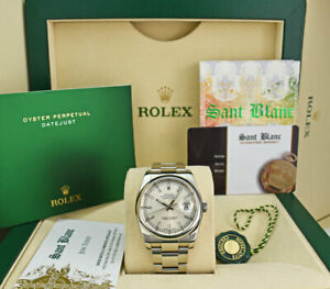 ROLEX-Mens-Stainless-Steel-DateJust-Silver-Index-Oyster-Band-116200-SANT-BLANC