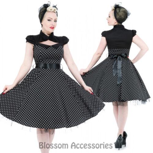 RKH69 Hearts and Roses H/&R Rockabilly 50s Polka Dots Retro Formal Pin Up Dress