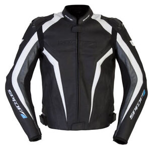 SPADA-CORSA-GP-LEATHER-MOTORCYCLE-JACKET-SPORTS-BLACK-ANTHRACITE-RRP-239-99