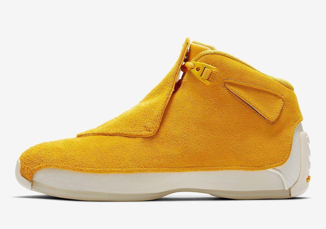 Nike Air Jordan 18 XVIII size 7.5. Yellow Ochre Suede. AA2494-701.