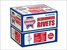 Faithfull - Aluminium Rivets 3.2mm x 6mm Short Bulk Pack of 1000