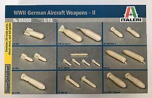 Italeri-26102-seconda-guerra-mondiale-tedesco-AEREO-ARMI-II-1-72-KIT-MODELLO