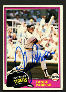 Lance Parrish #392 signed autograph auto 1981 Topps Baseball Trading Card