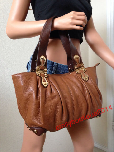 Luggage Brown Leather Shoulder Bag Tote