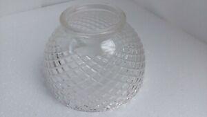 Vintage-Diamond-Glass-Dome-Fan-Light-Chandelier-Shade-Mid-Century-Modern-Retro