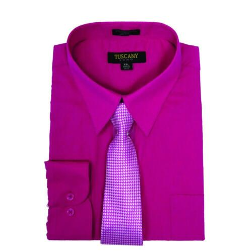 Men/'s Dress Shirts With Matching Tie Set Cotton Blend Shirt with Mystery Tie Set