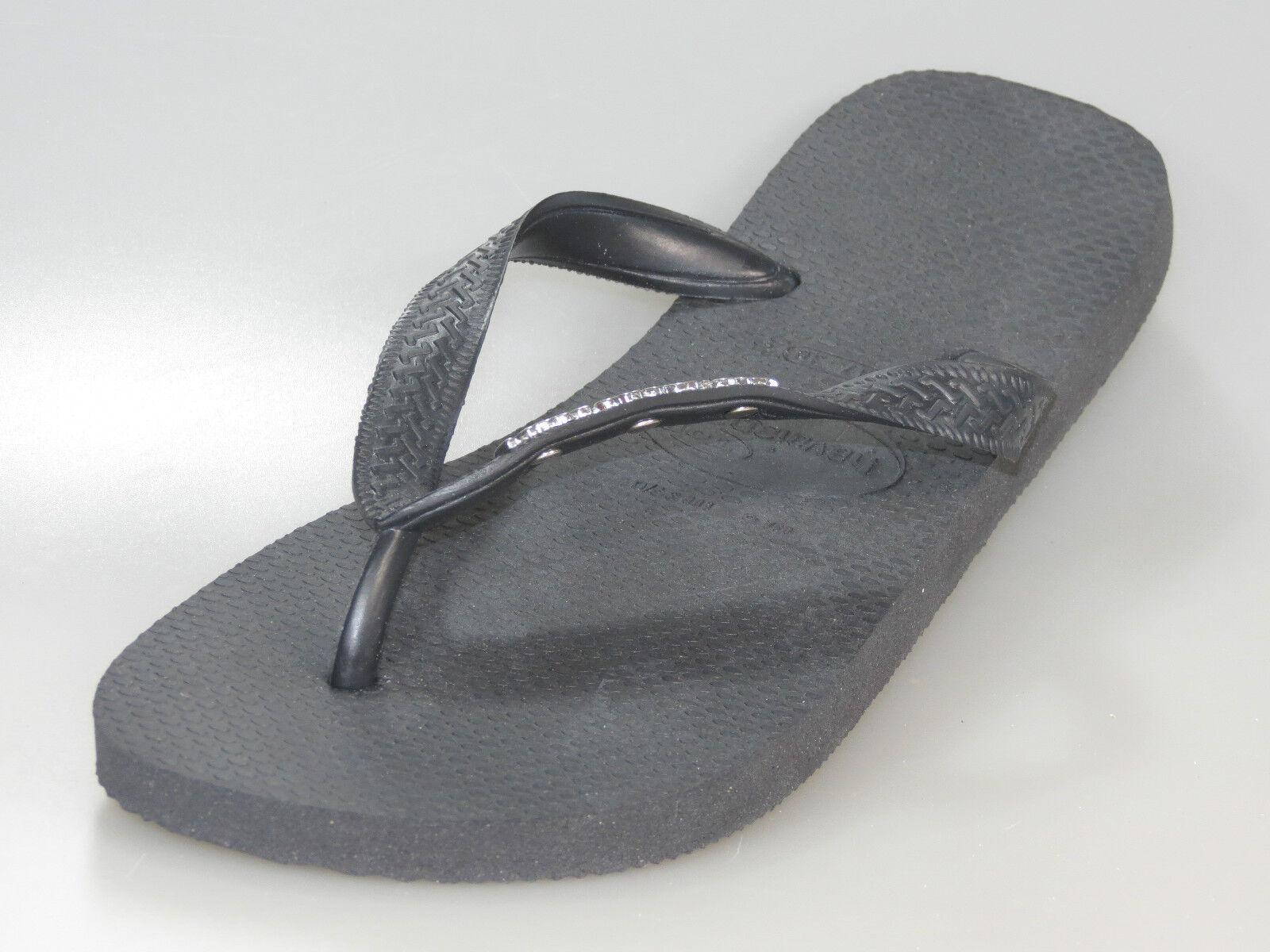 Havaianas top Logo Métallique sandale sandale Métallique noir 4.001.108 0090 Bride D'Orteil + Neuf + a7e832