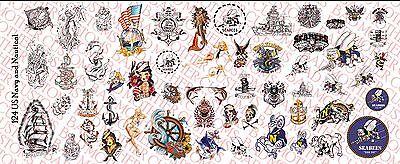 Viking Celtic pack Waterslide Decals 1//18 Scale Custom Tattoos