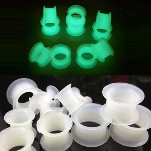 Leuchten im Dunkeln Flexi Silikon Flesh Tunnel Ohr Plug Expander Taper 4 bis1 WG