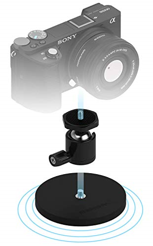 Sabrent Rubber-Coated Magnetic Mount for Action Cam / Cameras and Small DSLR
