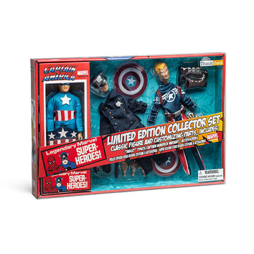 "NEW Captain America Limited Edition Collector Set Marvel Retro 8/"" 3 Figures NIB"