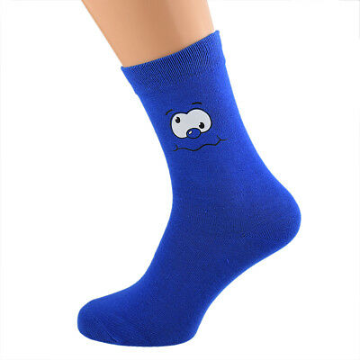 Navy Blue Vinyl Printed Wedding Role Socks Mens and Childs Sizes X6S224-GL