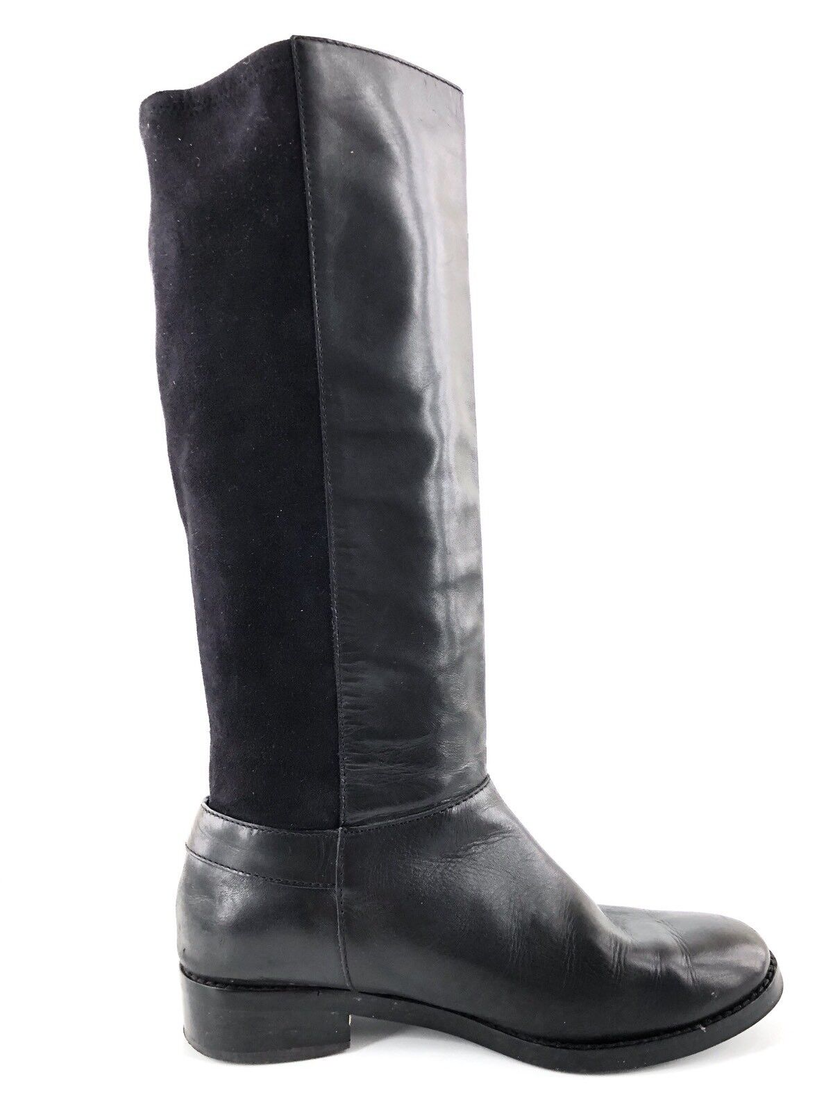 Cole Haan Adler Black Leather Suede Suede Suede Knee High Riding Boots Women's Size 7.5 M deef39