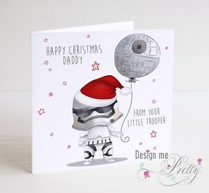image is loading star wars stormtrooper christmas card for dad daddy - Star Wars Christmas Card