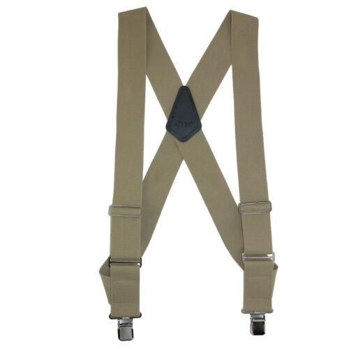 New CTM Men/'s Elastic Basic Trucker Side Clip Suspender