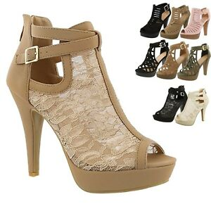 8d6166019c Image is loading New-Women-Gladiator-Strappy-Chunky-Platform-High-Heel-