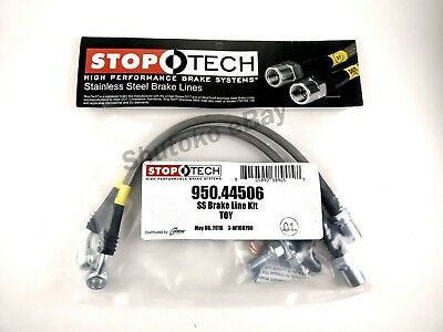 STOPTECH SS STAINLESS STEEL REAR BRAKE LINES FOR 91-00 LEXUS SC300 SC400