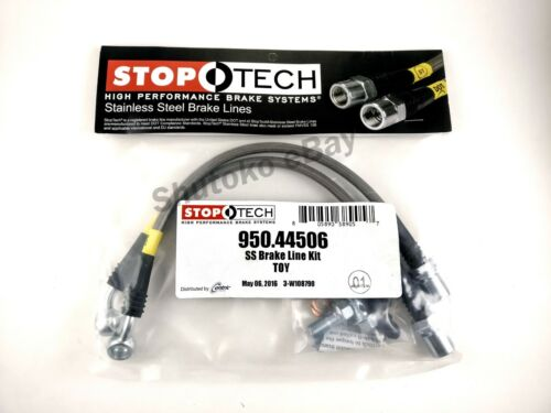 SC400 STOPTECH SS STAINLESS STEEL REAR BRAKE LINES FOR 91-00 LEXUS SC300