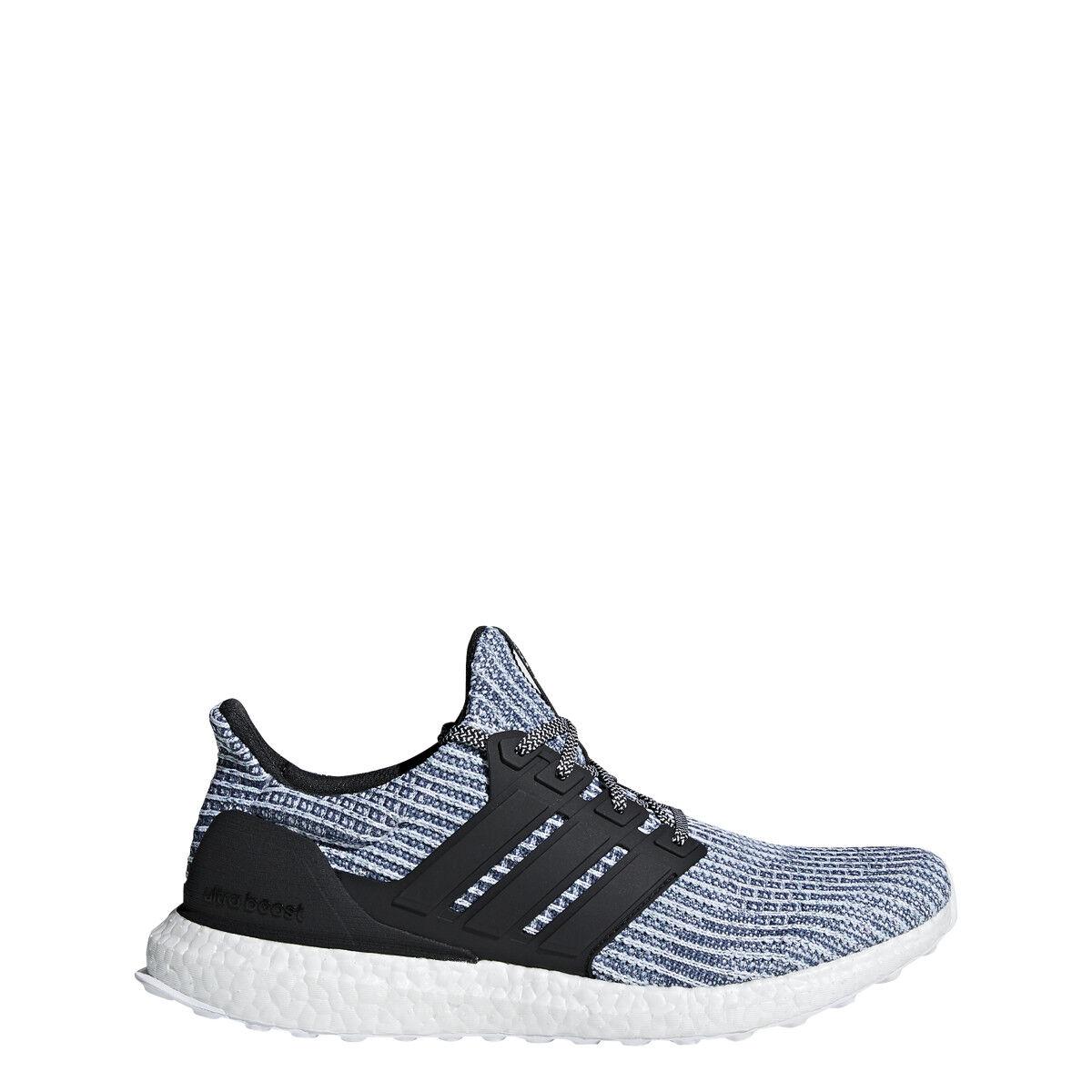 Men's Adidas Ultraboost Running Shoe White/Carbon/Blue Spirit
