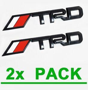 2x trd matte black emblems toyota tacoma tundra pickup. Black Bedroom Furniture Sets. Home Design Ideas