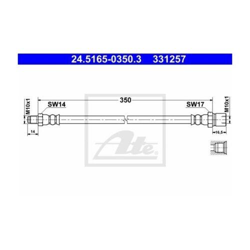 ATE 24.5165-0350.3 Bremsschlauch   für VW Kaefer 1500//1600 Kaefer Cabriolet