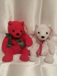 TY Beanie Babies Mistletoe and 2000 Holiday Teddy, perfect condition,  no flaws