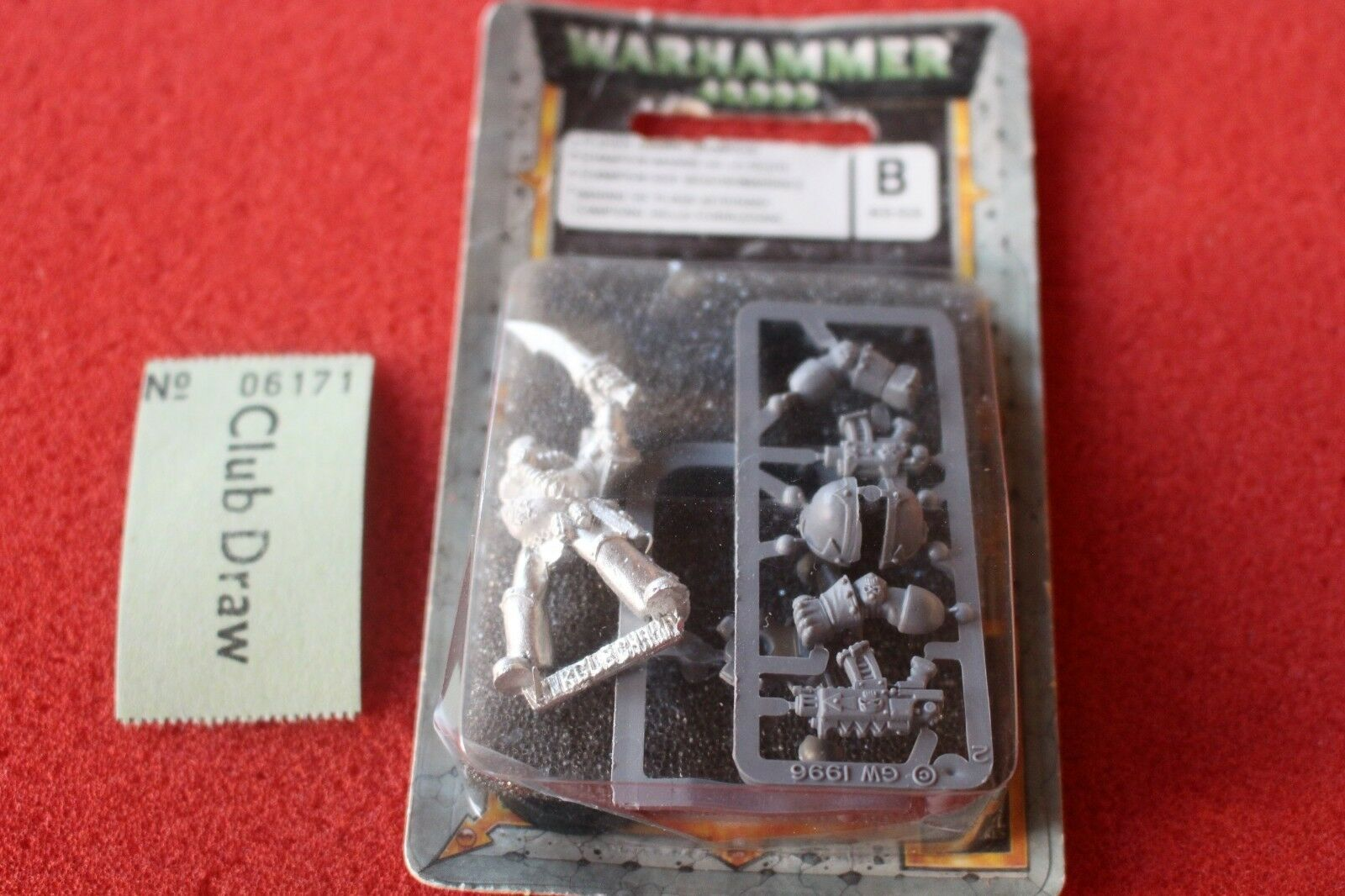 Games Workshop Warhammer 40k Chaos Space Marines Plague Marines Champion Metal