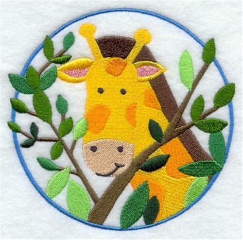 "Machine Embroidered Applique Peek a Boo Giraffe Size 3.87/"" x 3.87/"""