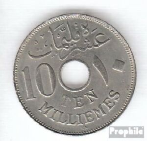 Egypt-KM-No-316-1917-KN-VERY-NICE-COPPER-NICKEL-1917-10-Milliemes-Hussein