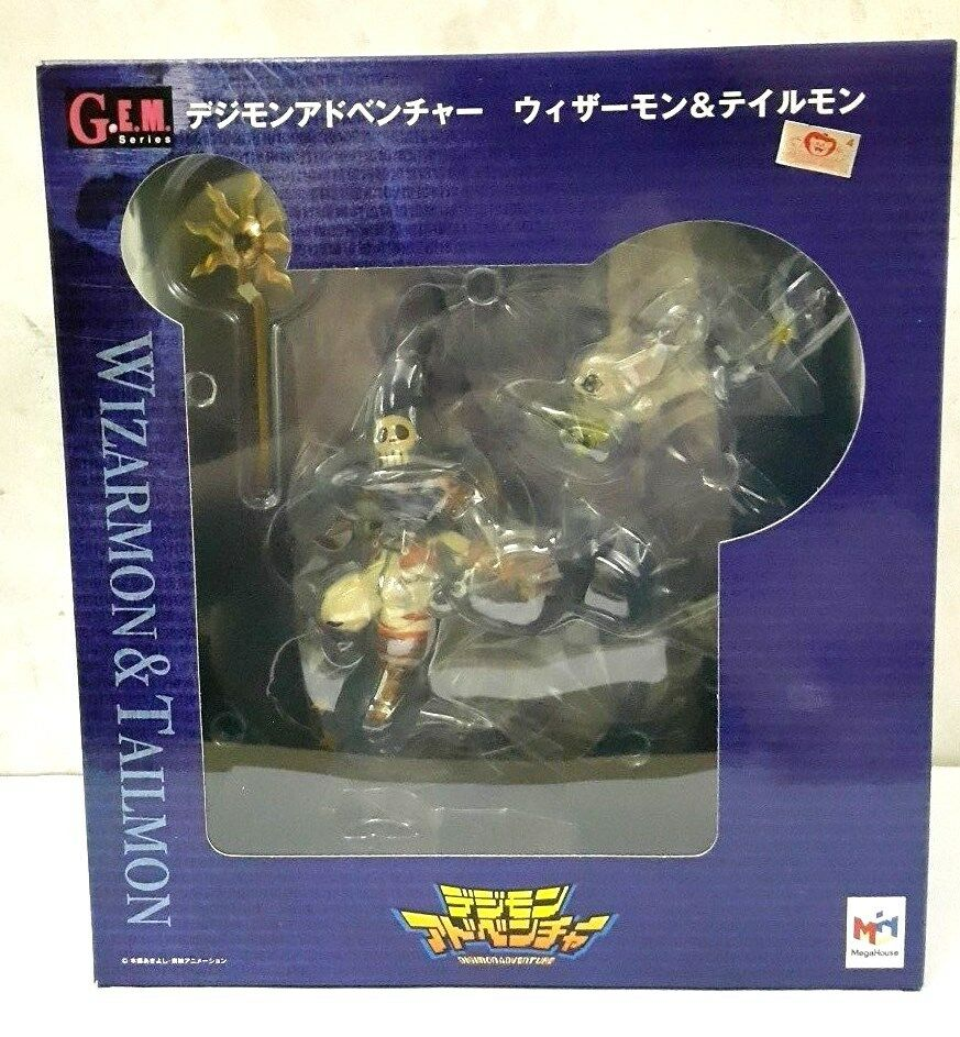 MEGA HOUSE G.E.M DIGIMON ADVENTURE WIZARMON & TAILMON PVC FIGURE