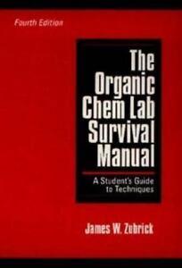 the organic chem lab survival manual by james w zubrick 1997 rh ebay com organic chem lab survival manual 10th edition organic chem lab survival manual pdf