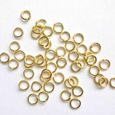 1000 ASSORTITI Placcato In Oro Anelli Aperti 4mm,5 mm,6 mm 7mm 8mm