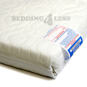 Baby-Cot-Bed-MATTRESS-QUILTED-AntiAllergenic-with-Water-Resistant-Cover-ALL-SIZE