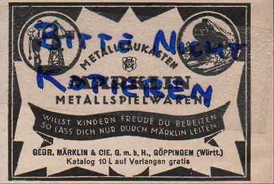 Kreativ GÖppingen Gebr Werbung 1924 Märklin & Cie Märklin Metall-spielwaren-baukästen Geschickte Herstellung