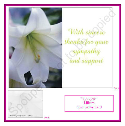 10 Bereavement Funeral Thank You Sympathy Cards Memory Memorial Note