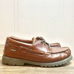 Wolverine-Ranger-II-Mens-Size-9-Brown-Leather-Oxfords-Lace-Up