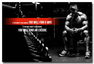 Details About F 761 Fitness Bodybuilding Motivational Sports Quotes Hot Poster 36 27x40in Art