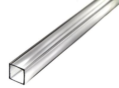 """Extruded Pack of 2 1-3//4/"""" ID x 2/"""" OD x 5-7//8/"""" Long Square Clear Acrylic Tube"""