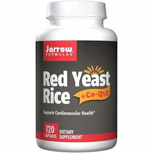 NEW Jarrow Formulas, Red Yeast Rice + Co-Q10, Cholesterol Support, 120 Capsules