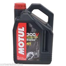 Motul 300V 4T Full Synthetic Motorcycle Oil 5W-40 4 Liter liter 1 US gallon