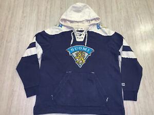 NHL-IIHF-Suomi-Finnalnd-Hoodie-Sweatshirt-Hockey-Jersey-CCM-XXL