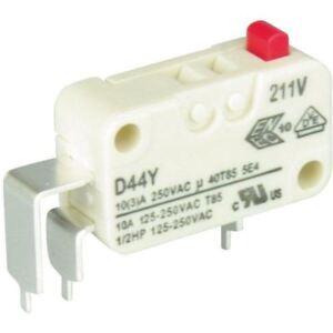 Cherry-d443-p4aa-Microinterruptor-SPDT-10a-Estandar-Fuerza-boton-coverside-PCB